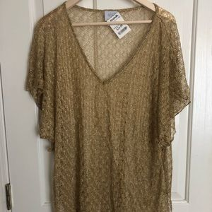Gold Lace Swim Cover Up